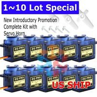 10x 9G iSG90 Micro Servo Motor For RC Robot Helicopter Airplane Aircraf Car Boat
