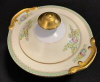 Meito China Hand Painted Sugar Bowl with Lid Beautiful Classic Style *RARE*