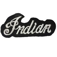 Indian Black Motorcycle Embroidered Patch - JX063