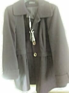 Wardrobe brand, Ladies black winter coat-size 30 -new with tags FREE UK SHIPPING