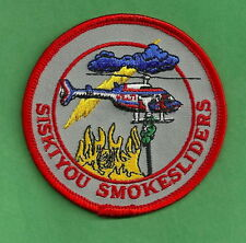SISKIYOU NATIONAL FOREST U.S. FOREST SERVICE SMOKESLIDERS FIRE CREW PATCH