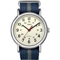 "Timex T2N654, Men's ""Weekender"" Blue Strap Fabric Watch, Indiglo, T2N6549J"
