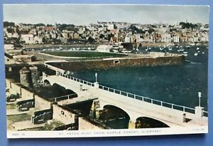 Postcard of St Peter Port from Castle Cornet, Guernsey