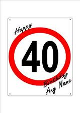 40 Birthday Speed Sign .  Get your Friends to sign it!