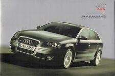 Audi A3 3-dr Sportback & S3 Specification 2006-07 UK Market Brochure