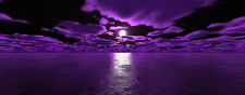 """Extra Large Canvas Pictures 20""""X40"""" Purple Black Sea Wall Art Modern Prints"""