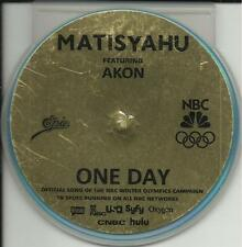 MATISYAHU One Day w/ AKON 2TRX TST PRESS SOFT PACK PROMO DJ CD Single Olympics