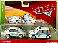 DISNEY PIXAR CARS 2018 WORLD GRAND PRIX WGP ERIK LANELEY & ALEX CARVILL 2 PACK
