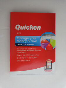 Intuit Quicken Deluxe 2017 For Windows (New! Factory sealed retail DVD Case)