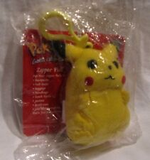 Pokemon Pikachu Plush Backpack Clip / Zipper Pull 2000 Limited Ed Unopened MINT