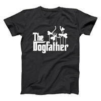 The Dogfather Funny Dog Dad Humor Gift Black Basic Men's T-Shirt