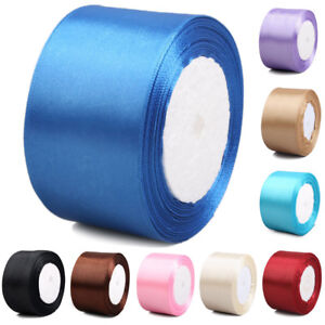 Multicolor Satin Ribbon Spool For Wedding Party DIY BJD ACC 25Yds 50mm/2""