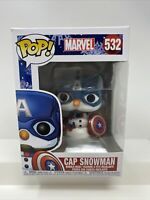 Funko Pop! Marvel Holiday: Cap Snowman (Captain America) #532 Vinyl Figure