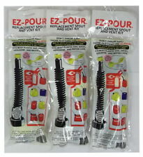 Lot of 3 EZ Pour 10050 Replacement Spout Replace Old Gas Can Fill Kit