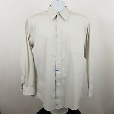 Nordstrom Wrinkle Free Mens Gray Yellow Striped L/S Dress Button Shirt Sz 16-34