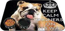personnalisé Gardez votre CALME anglais bulldog Animal De Compagnie Tapis chien