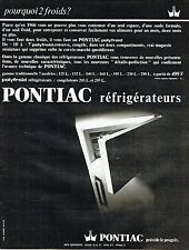 Publicité Advertising 037  1966   polyfroid réfrigérateur Pontiac