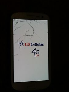 Samsung Galaxy S3 US Cellular, Cracked Screen - Free Shipping!