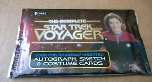 The Complete Star Trek Voyager Booster Pack Trading Cards Sealed Booster Pack