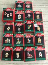 Lot of 18 Vintage Hallmark Keepsake Christmas Ornaments Miniatures