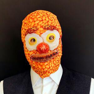 Baked Bean Breakfast Face 3D Effect Lycra Fabric Face Mask FS023