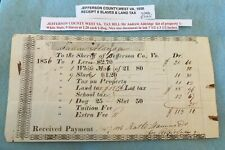 1856 JEFFERSON COUNTY,WEST VA 8 SLAVES AND  LAND TAX RECEIPT SLAVE DOCUMENT
