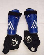 Adidas Predator Club Youth Pair of Soccer Shin Guards Blue Black Xs Nocsae