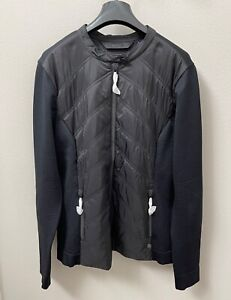 Harley Davidson Women's Quilted Stretch Nylon Sweater Jacket Black NWT Medium