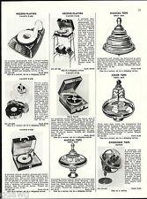 1956 ADVERT Vanity Fair Toy Record Player Mickey Mouse Ohio Art Tops Mattel