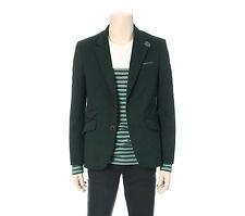 Chris Christy Mens Casual Two Button Blazer Cotton Jacket Green Slim Size M NWT