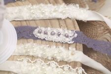 Newborn Pearl Tiebacks for Organic photo prop accessory, Newborn Photography