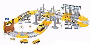 Rennbahn Magic Traxx Baustelle mit Brücke 160-teilig
