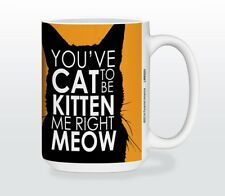 Cat Lover Kitten Me Right Meow Funny Coffee Tea Cocoa Mug 15oz Neat Gift Idea