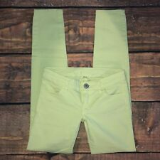 American Eagle Jegging Size 00 Regular Womens Skinny Jeans Yellow Green Stretch