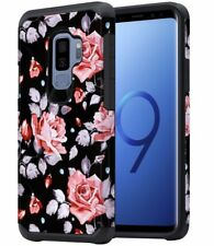 Samsung Galaxy S9 Plus Case for Women Girls Floral Shockproof Heavy Duty Cover
