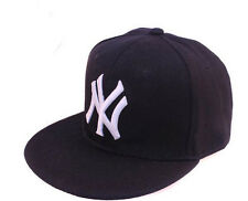 Negro New York Hip Hop yankee estilo NY Gorra Béisbol Snapback Estampado logo