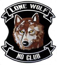 Neuf LONE WOLF motard chopper mororcycles Veste/Gilet pièce 10.2x10.2cm 10x10cm