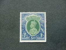 India KGVI 1937 5r green & blue SG261 LMM