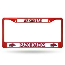 Arkansas Razorbacks Red Metal License Frame [NEW] NCAA Auto Car Truck Plate