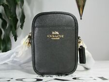 Coach F80589 Phoebe Crossbody Bag in Crossgrain Leather Black