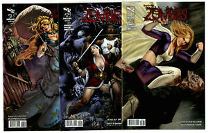 Grimm Fairy Tales: Zombies The Cursed #1-3 (2013) Zenescope VF/NM to NM Complete