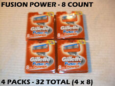 Gillette Fusion Power -  32 Count (4 x 8 Packs)