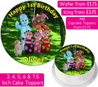 IN THE NIGHT GARDEN EDIBLE WAFER & ICING PERSONALISED CAKE TOPPER BIRTHDAY PARTY