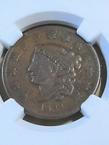 1834 US Coronet Head Large Cent VG8BN by NGC!!