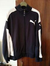 PUMA giacca tuta, felpa sportiva, jacket, sweatshirt - blu/bianco, taglia L
