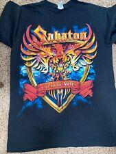 Sabaton Coat Of Arms World War Tour 2011 T-Shirt Size medium Concert Heavy Metal