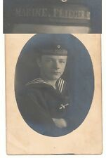 Foto Portrait Mützenband Marine Flieger Abteilung 1916