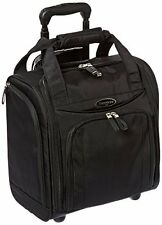 NEW Samsonite Suitcase Roll Bag Wheel Under-Seater Small Black Carry-On Luggage