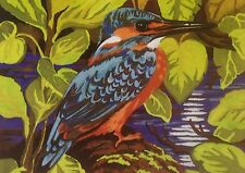 Webster Craft Punch Needle Embroidery Large Kingfisher kit with yarn
