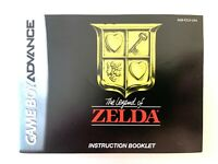 CLASSIC NES THE LEGEND OF ZELDA GBA - AUTHENTIC Instruction MANUAL Booklet Book